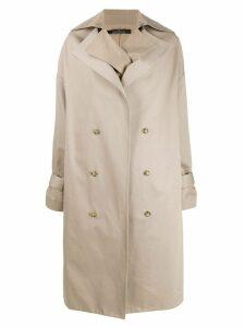 Rokh oversized trench coat - Neutrals