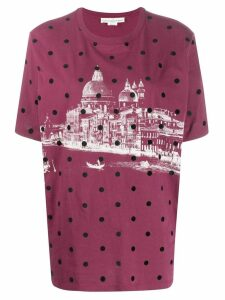 Golden Goose Venice landscape T-shirt - Red