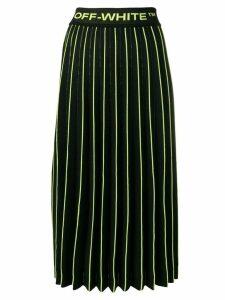 Off-White knit plisse skirt - Black