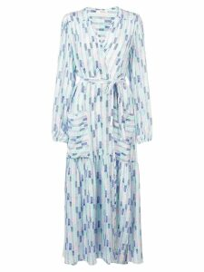 Lemlem Gigi robe wrap dress - Blue