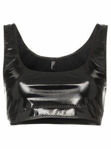 Lisa Marie Fernandez Zani PVC crop top - Black