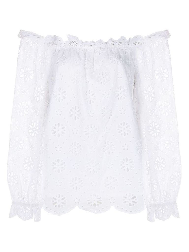 Michael Michael Kors floral eyelet blouse - White
