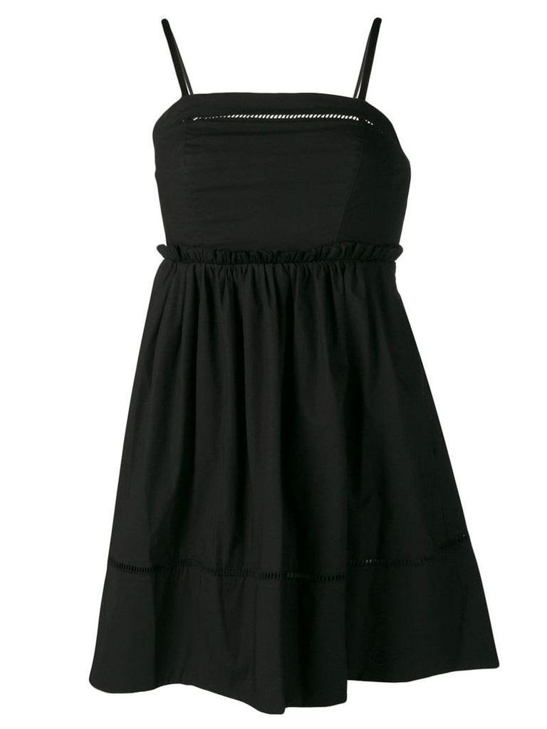 Twin-Set bandeau sun dress - Black