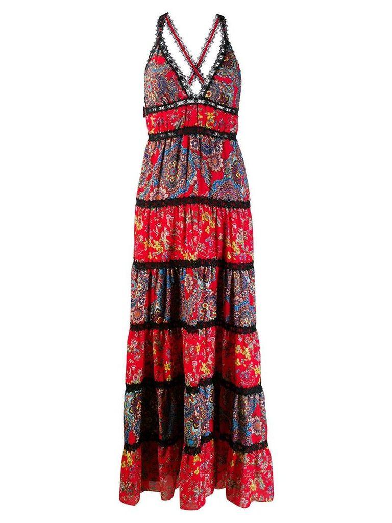Alice+Olivia floral print maxi dress - Red