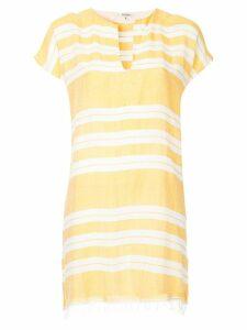 Lemlem horizontal stripes tunic dress - Yellow