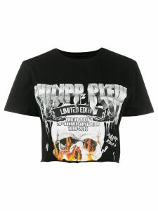 Philipp Plein cropped printed T-shirt - Black