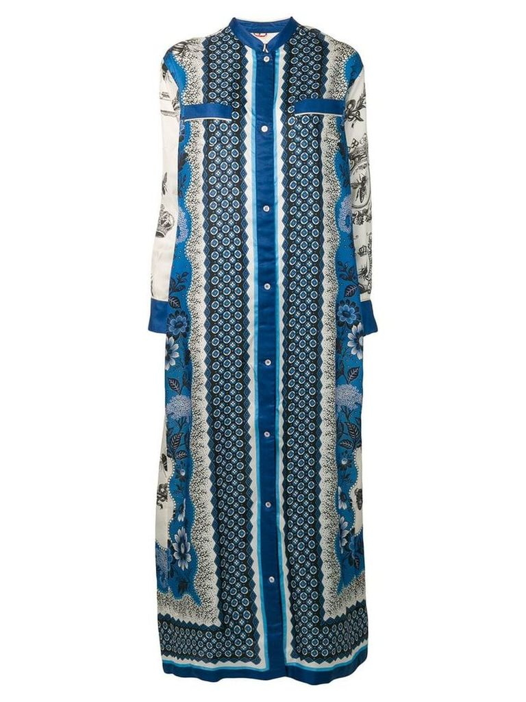 F.R.S For Restless Sleepers patterned maxi dress - Blue