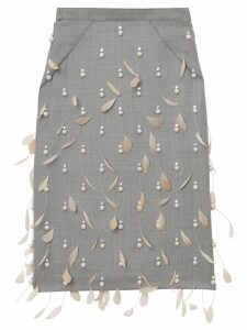 Burberry embellished pencil skirt - NEUTRALS