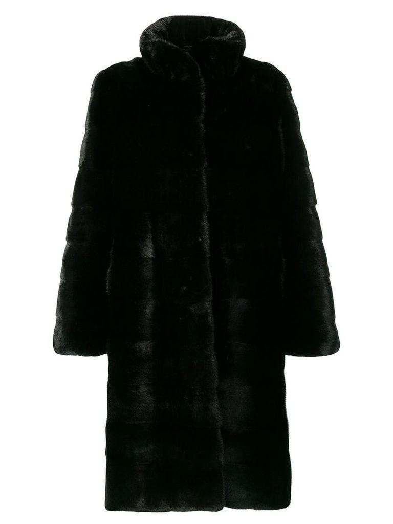 Liska high-collar coat - Black