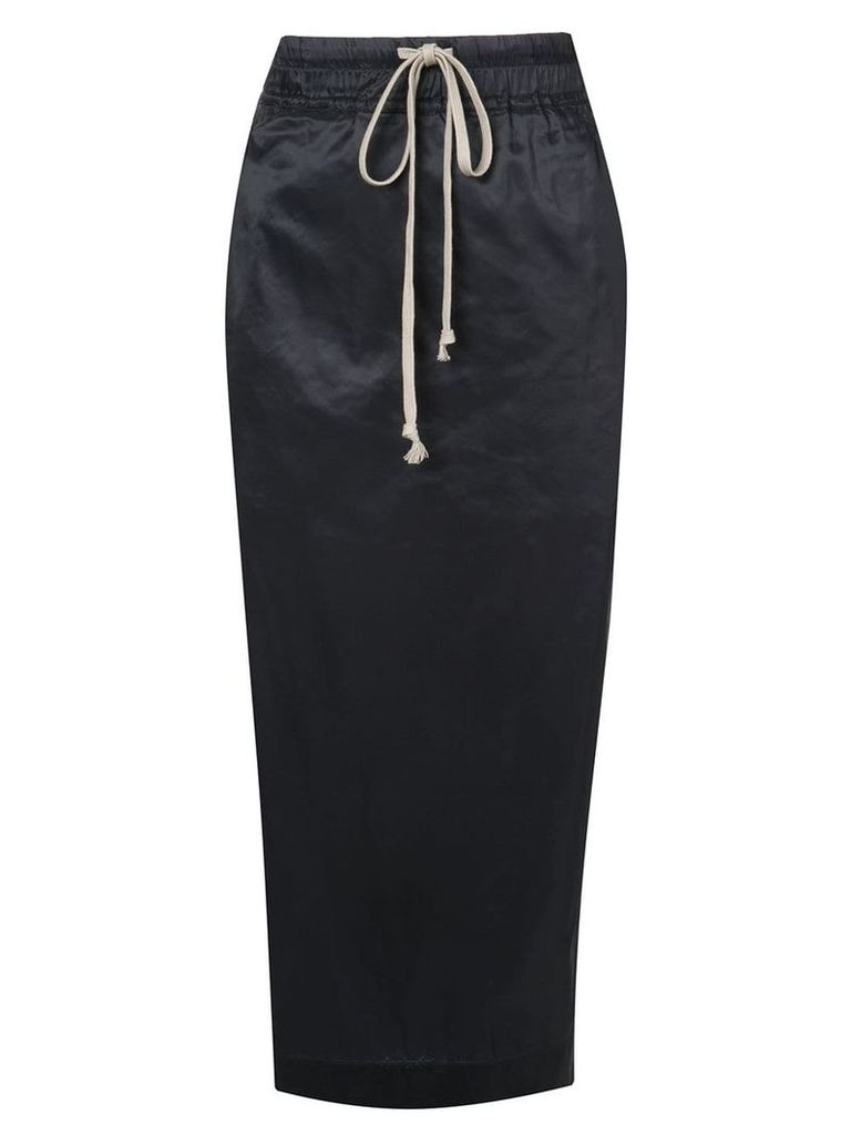Rick Owens DRKSHDW Soft Pillar pencil skirt - Blue