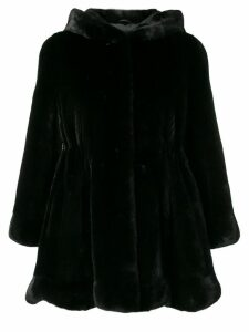 Liska short hoodeed coat - Black