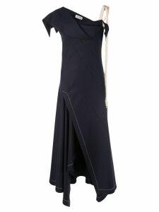 Monse rope tie evening dress - Blue
