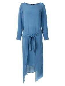 Magrella midi long sleeved dress - Indigo