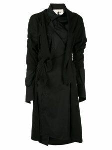 Aganovich deconstructed jersey shirt dress - Black