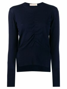 Marni ruched front jumper - Blue