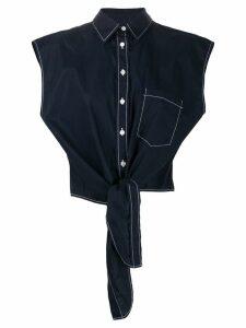 P.A.R.O.S.H. tie waist shirt - Blue