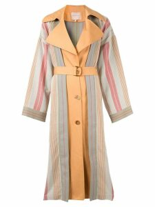 Roksanda multi stripe trench coat - Grey