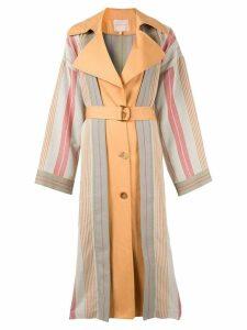 Roksanda multi stripe trench coat - Grey