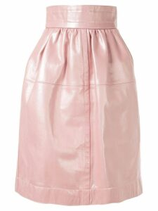 Marc Jacobs leather lamb skin skirt - Pink