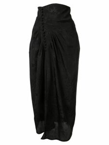 Mame floral jacquard high waisted skirt - Black
