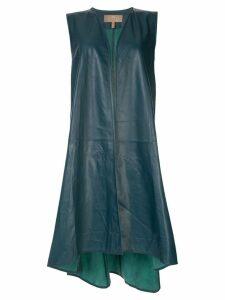 Ecaille sleeveless coat - Green