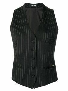 Styland pinstripe waistcoat - Black