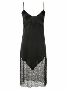 Giacobino lace inserts slip dress - Black