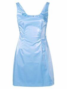 Priscavera wet look shift dress - Blue