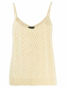 Cashmere In Love cable knit tank top - Yellow