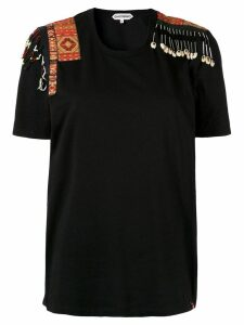 Giacobino embellished shoulder T-shirt - Black