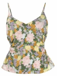 Rokh floral print gathered top - Green