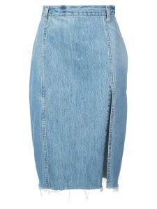 Re/Done pencil denim skirt - Blue