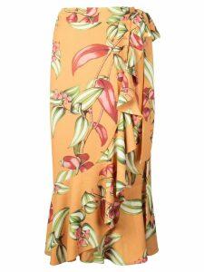 Patbo ruffle detail skirt - Yellow