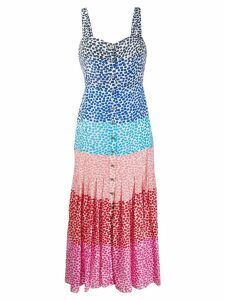Saloni Karen rainbow dress - White