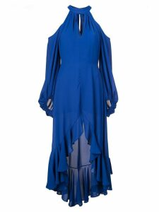 Nha Khanh cold-shoulder dress - Blue