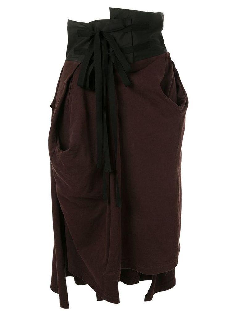 Aganovich high waisted jersey skirt - Brown