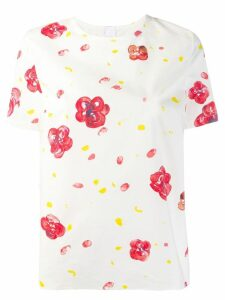 Marni poplin floral-print T-shirt - White