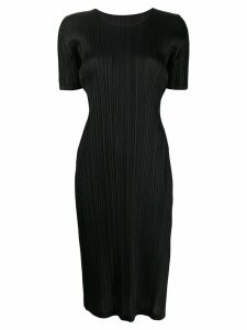 Pleats Please By Issey Miyake micro pleated midi dress - Black