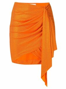Alexandre Vauthier micro-crystal skirt - Orange