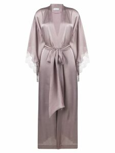 Carine Gilson lace trim kimono - Purple