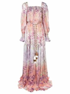Peter Pilotto floral print maxi dress - Purple