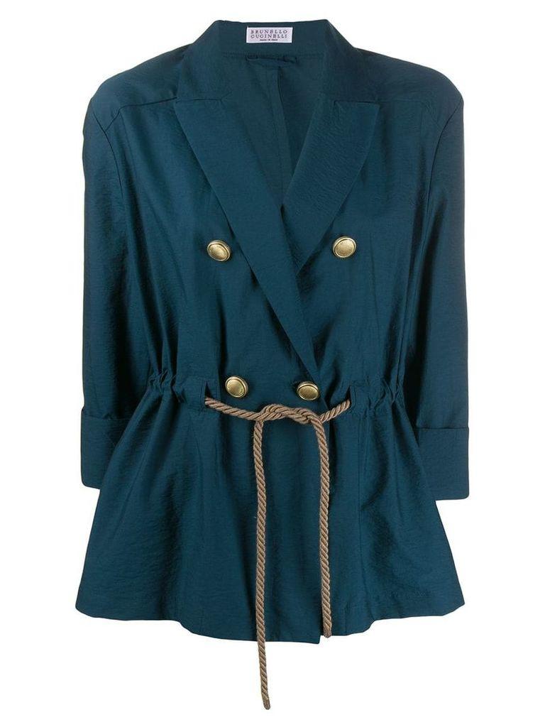 Brunello Cucinelli double breasted blazer - Blue