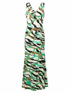 Roberto Cavalli patterned maxi dress - Green