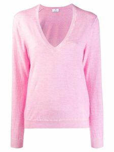 Allude V-neck jumper - Pink