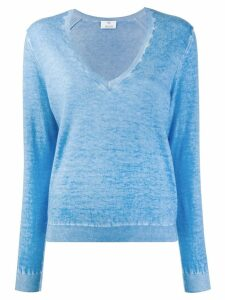 Allude sheer knit sweater - Blue