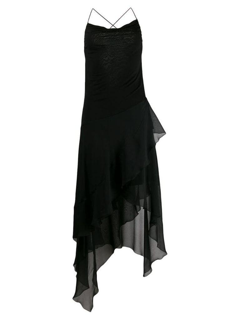 Blumarine asymmetric layered dress - Black