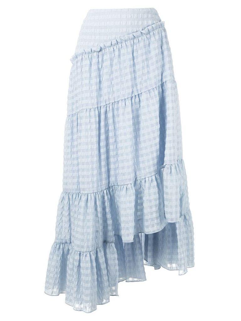 3.1 Phillip Lim asymmetric tiered skirt - Blue
