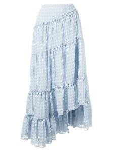 3.1 Phillip Lim asymmetric tiered skirt - Blue