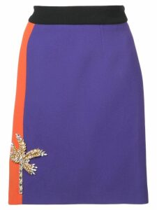 Fausto Puglisi colour block pencil skirt - Purple