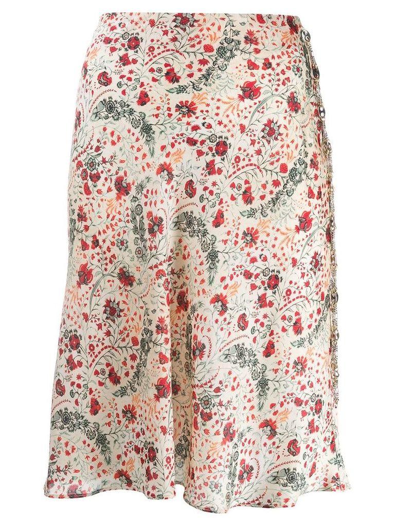 Paco Rabanne floral print skirt - Neutrals